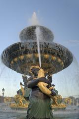 fountain of the rivers in the place de la concorde