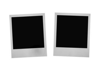 two photo frames on white