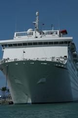 cruise ship upclose