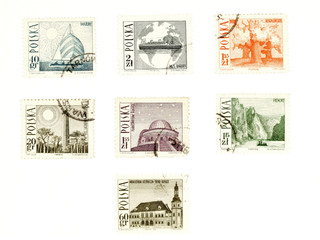 collectible post stamps from poland