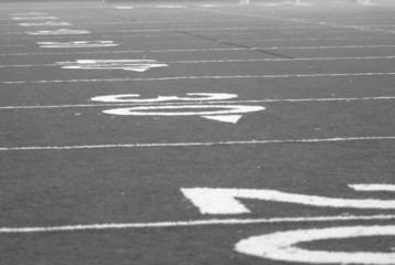 football in b&w