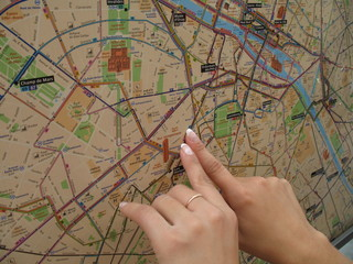 poining to the paris map