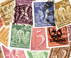 colourful stamps