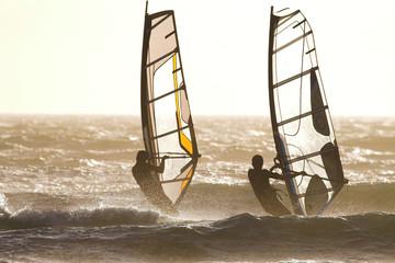 windsurfer backlit