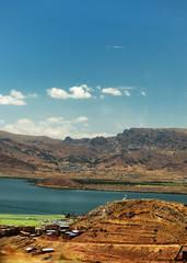 mountain & lake view