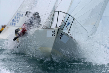 Photo sur Toile Voile sailing action