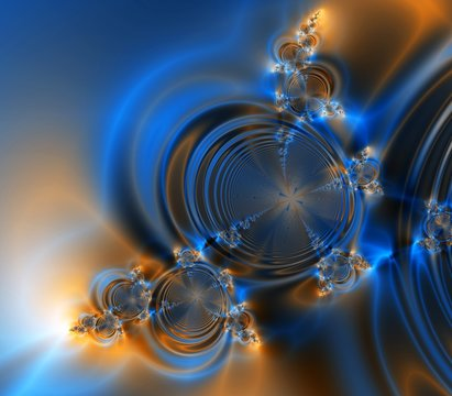 blue and orange fantasy abstract background