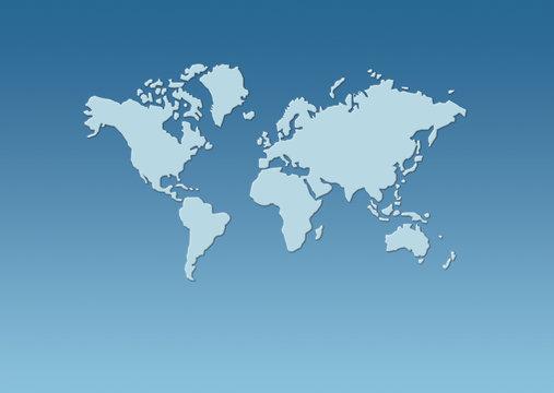 weltkarte - map of world