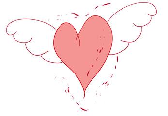 cuore alato