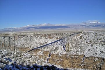 rio grande gorge bridge in taos county, nm