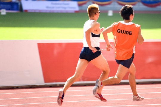 men's 100 meters for blind persons