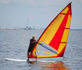 biscayne bay windsurfer