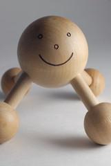 vertical happy face massager