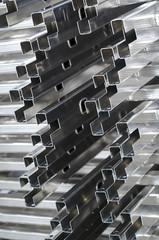 detail of aluminium profiles