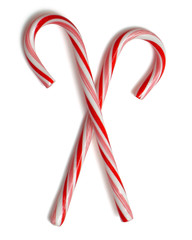 two crossed candycanes two