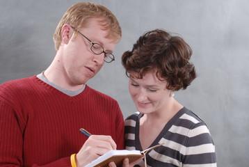 reading writing couple