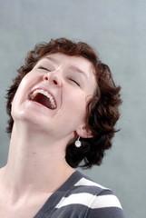 brunette big laugh