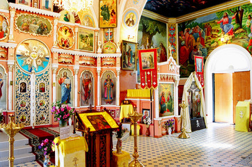 interior of an orthodox temple