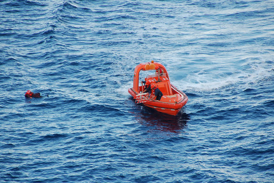 rescue mission for man overboard
