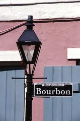bourbon street sign new orleans
