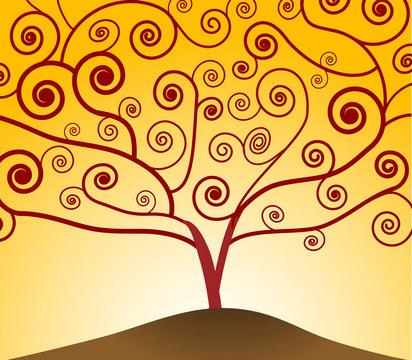 art nouveau tree