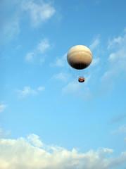 balloon on a cloudy sky