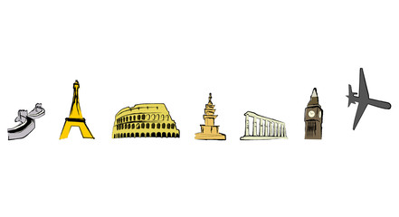 famous landmarks icons