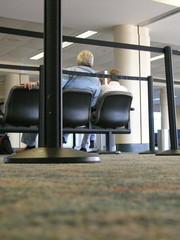vertical waiting at airport