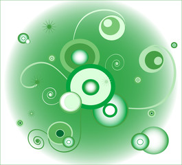 green background (circle)