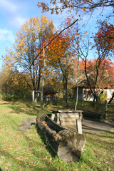 well, autumn landscape