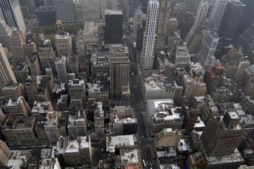 manhattan view from the air