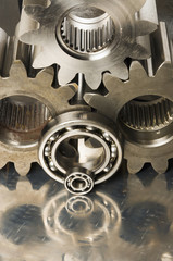 gears in sepia toning