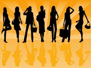shoping girls - illustration