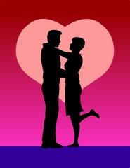 loving heart embrace