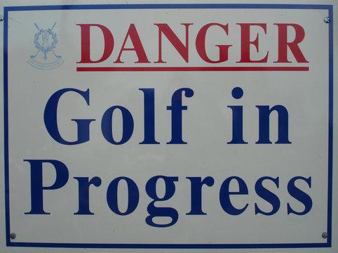 golf in st. andrews - danger