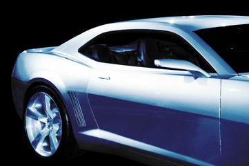 abstract chevrolet camaro concept car