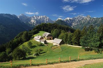 old farm in slovenian alps