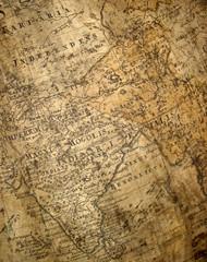 Keuken foto achterwand India fragment of ancient map