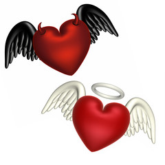 love - good and evil