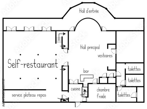 Plan restaurant photo libre de droits sur la banque d for Architecture de plan libre
