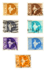 historic british colony post stamps - india
