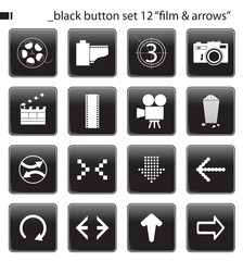 "black button set 12 ""film & arrow"""