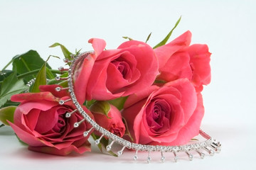 sweetheart roses and princess diamonds