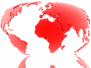 red map of our earth (just find more in my portfol