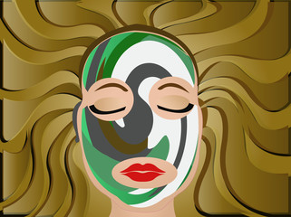 spa tribal face mask