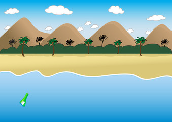 desert island.