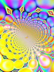 Keuken foto achterwand Psychedelic retro spiral background (purple and yellow)