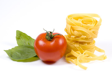 tagliatelle and other ingredients