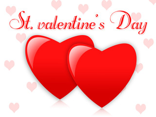 st. valentine's red and white hearts