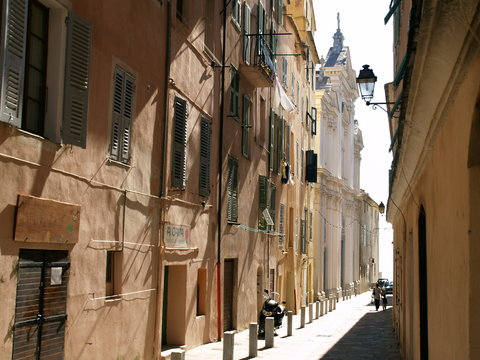 old street in bastia
